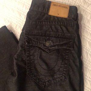 Brushed black True Religion Jeans